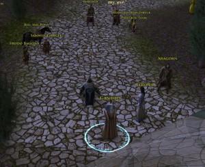 The Fellowship leaving Rivendell